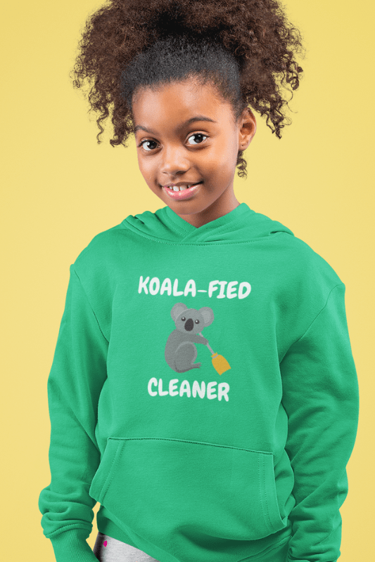 Koalafied Cleaner Savvy Cleaner Funny Cleaning Shirts Kids Classic Pullover Hoodie