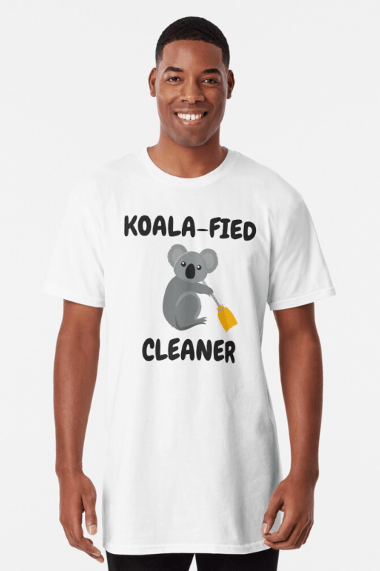 Koalafied Cleaner Savvy Cleaner Funny Cleaning Shirts Long Tee