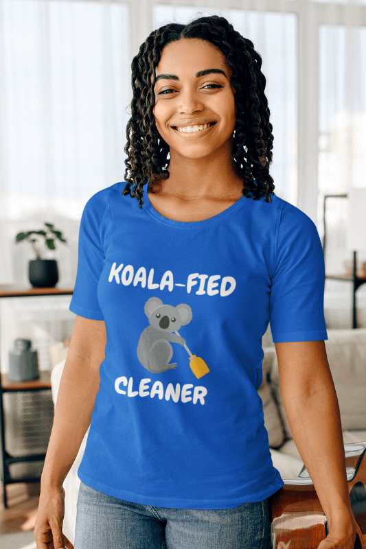 Koalafied Cleaner Savvy Cleaner Funny Cleaning Shirts Women's Slouchy T-Shirt