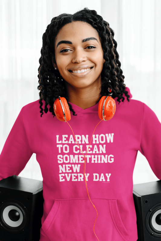 Learn Something New Savvy Cleaner Funny Cleaning Shirts Classic Pullover Hoodie
