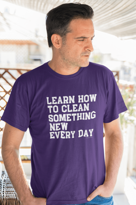 Learn Something New Savvy Cleaner Funny Cleaning Shirts Men's Standard T-Shirt