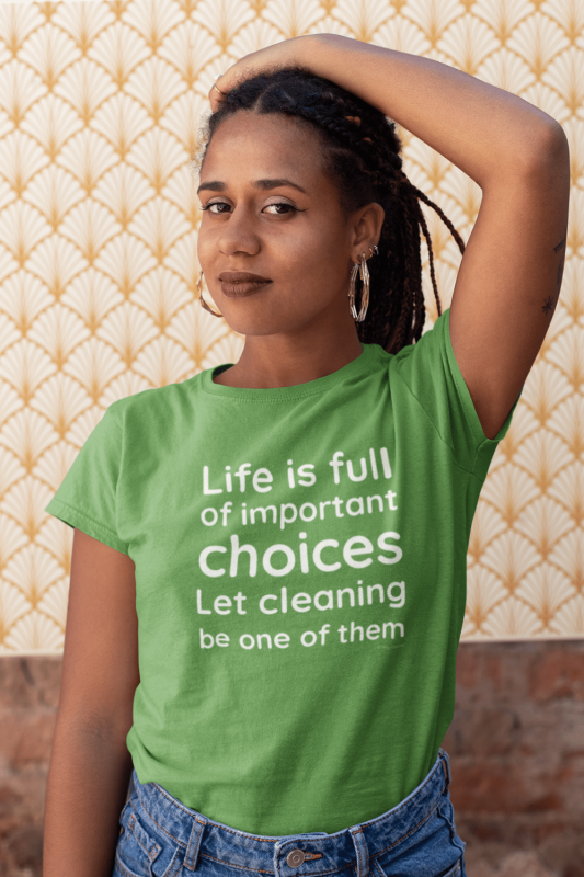 Life Is Full Savvy Cleaner Funny Cleaning Shirts Women's Standard T-Shirt