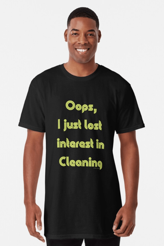 Lost Interest in Cleaning Savvy Cleaner Funny Cleaning Shirts Classic Long Tee