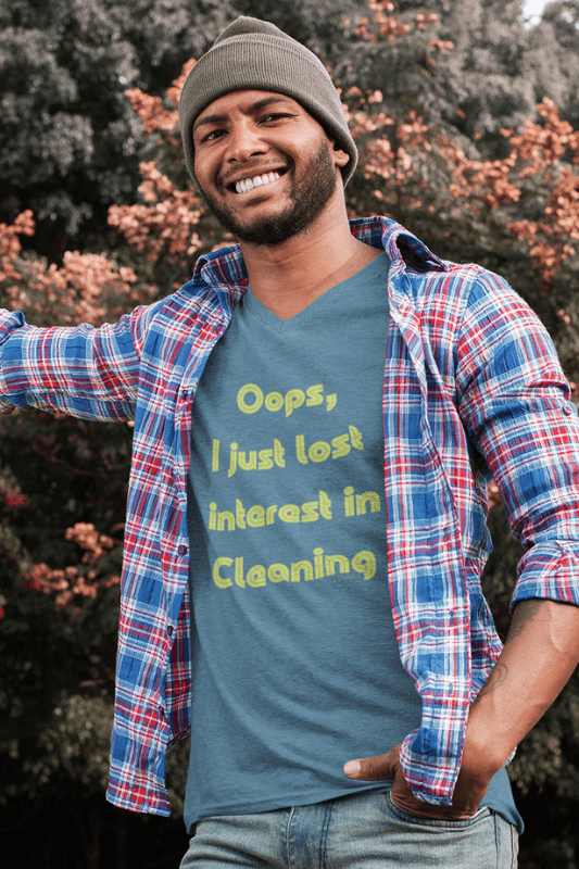 Lost Interest in Cleaning Savvy Cleaner Funny Cleaning Shirts Premium V-Neck T-Shirt