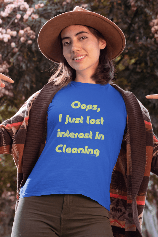 Lost Interest in Cleaning Savvy Cleaner Funny Cleaning Shirts Women's Boyfriend T-Shirt