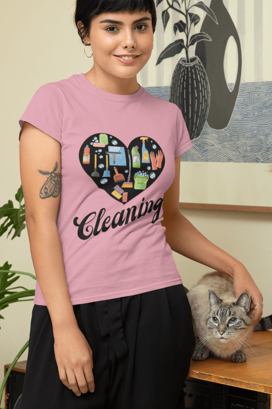 Love Cleaning Savvy Cleaner Funny Cleaning Shirts Standard Tee
