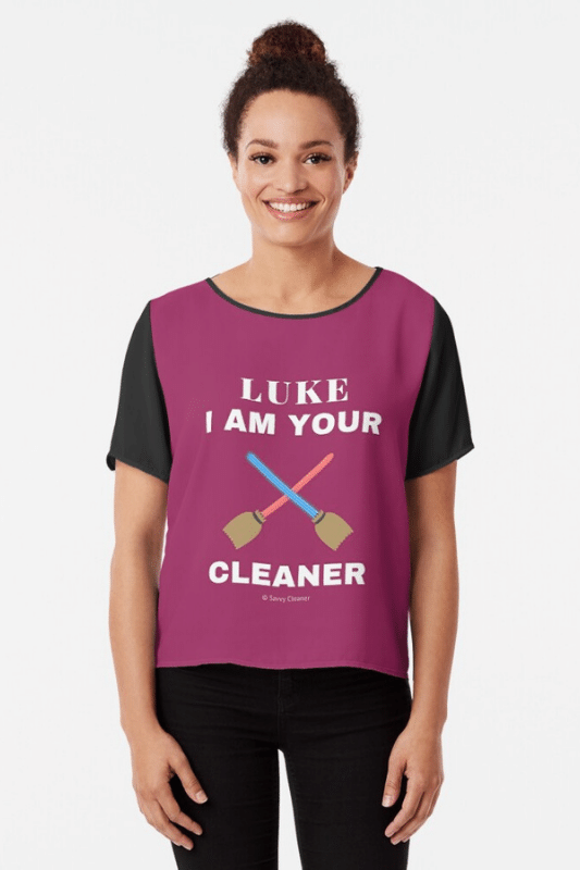 Luke I Am Your Cleaner Savvy Cleaner Funny Cleaning Shirts Chiffon Top
