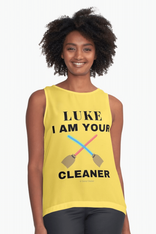 Luke I Am Your Cleaner Savvy Cleaner Funny Cleaning Shirts Sleeveless Top