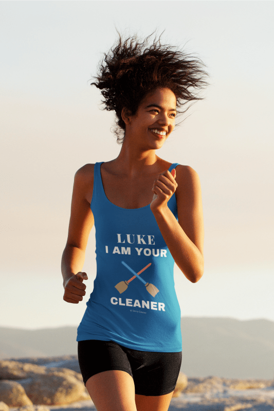 Luke I Am Your Cleaner, Savvy Cleaner tank-top Woman in Tank Top Navy