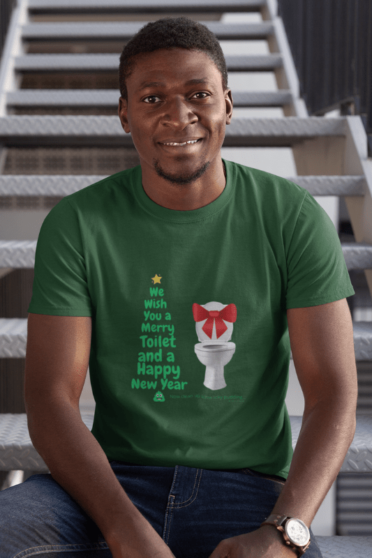 Merry Toilet, Savvy Cleaner Funny Cleaning Shirts, Comfort T-Shirts