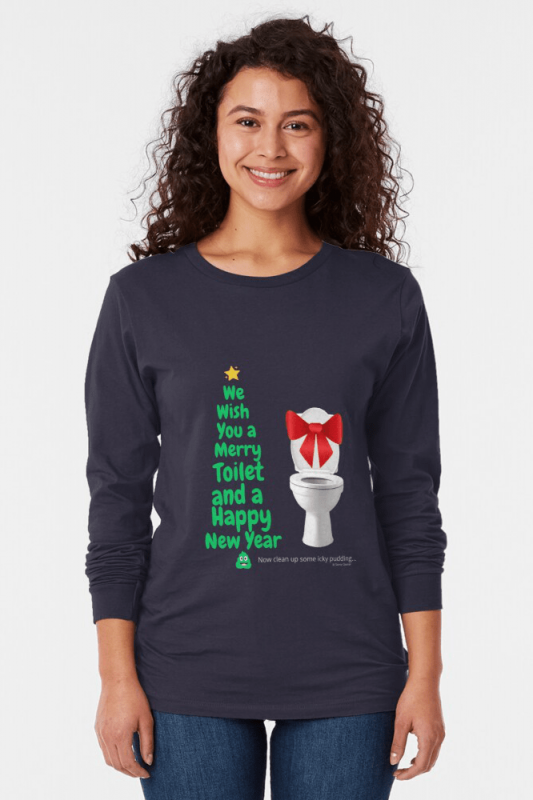 Merry Toilet, Savvy Cleaner Funny Cleaning Shirts, Long sleeve shirt