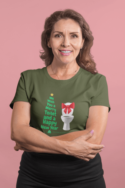 Merry Toilet, Savvy Cleaner Funny Cleaning Shirts, Women's Triblend T-Shirt