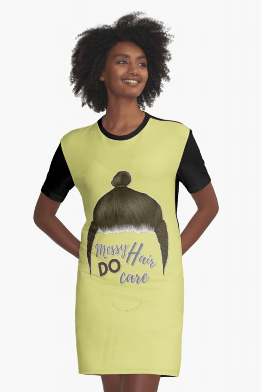 Messy Hair Do Care, Savvy Cleaner Funny Cleaning Shirts, Graphic Dress