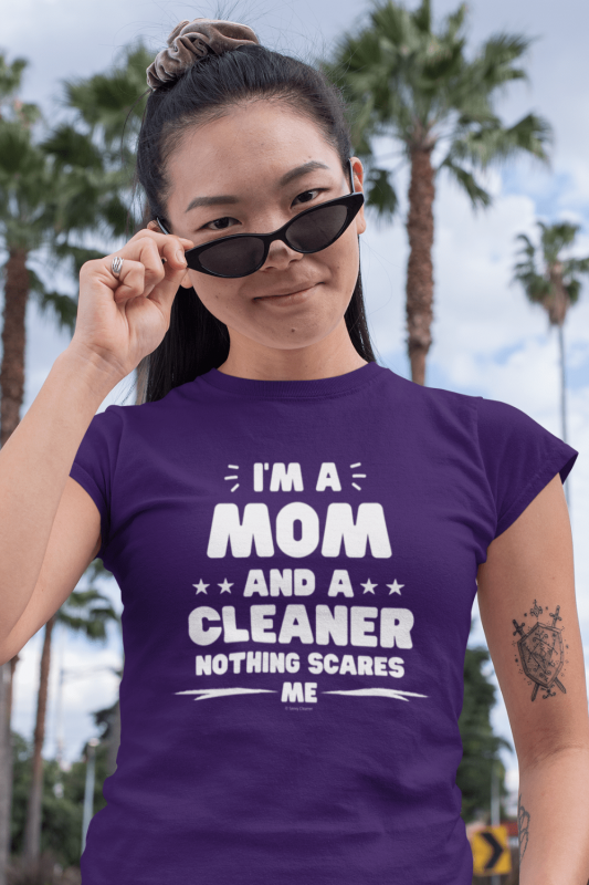 Mom and a Cleaner Savvy Cleaner Funny Cleaning Shirts Standard Tee