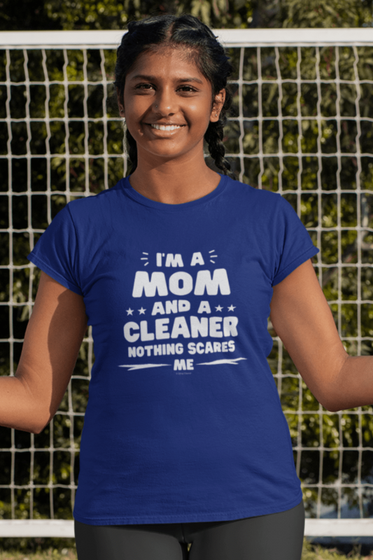 Mom and a Cleaner Savvy Cleaner Funny Cleaning Shirts Women's Standard Tee