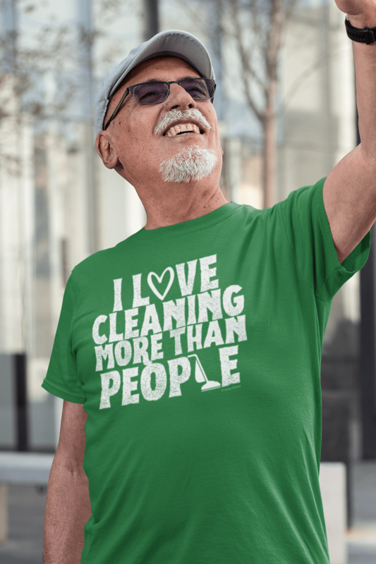 More Than People Savvy Cleaner Funny Cleaning Shirts Men's Standard Tee