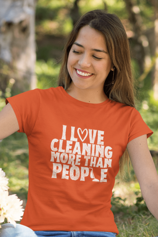 More Than People Savvy Cleaner Funny Cleaning Shirts Women's Standard T-Shirt