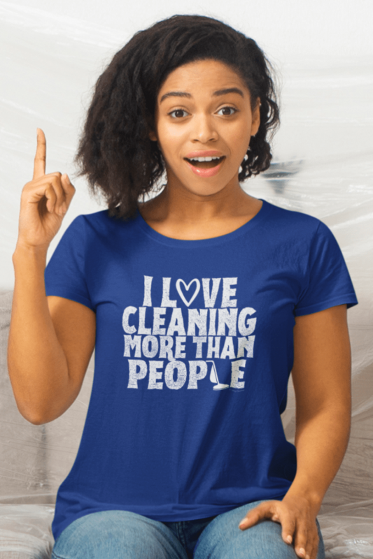 More Than People Savvy Cleaner Funny Cleaning Shirts Women's Standard Tee