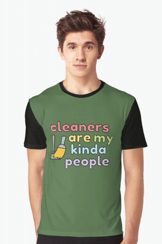 My Kind of People Savvy Cleaner Funny Cleaning Shirts Graphic Tee