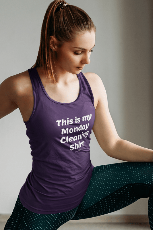 My Monday Cleaning Shirt, Savvy Cleaner Funny Cleaning Shirts, Premium Tank Top