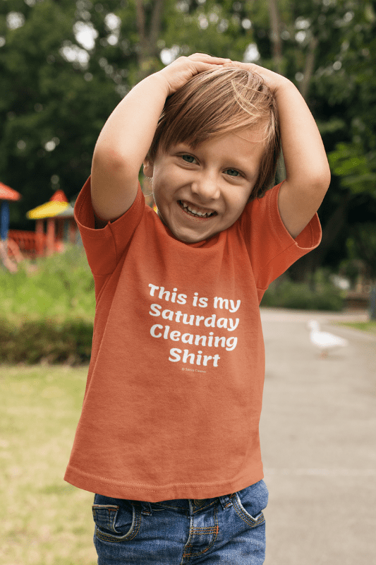 My Saturday Cleaning Shirt, Savvy Cleaner Funny Cleaning Shirts, Kids T-Shirt