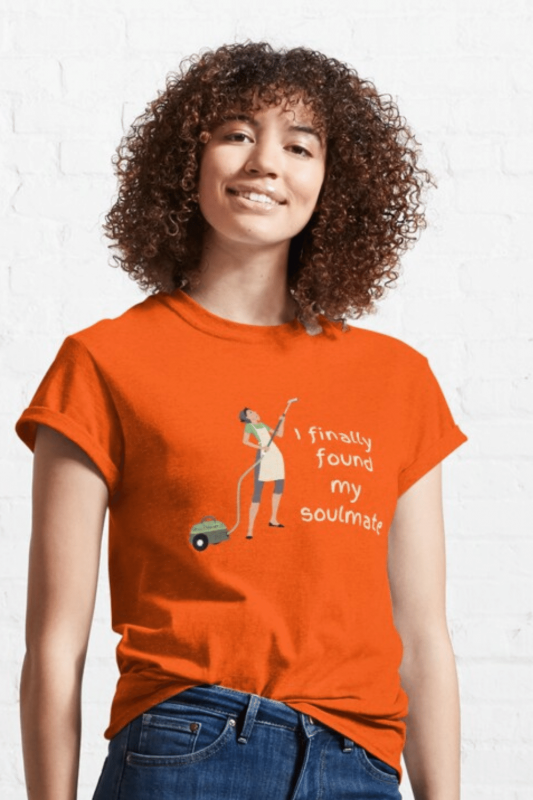 My Soulmate Savvy Cleaner Funny Cleaning Shirts Classic Tee
