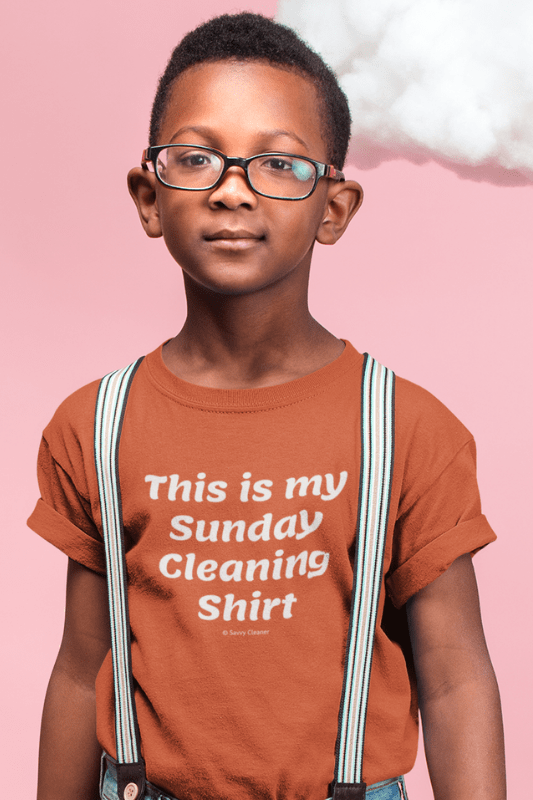 My Sunday Cleaning Shirt, Savvy Cleaner Funny Cleaning Shirt, Kids Premium T-Shirt