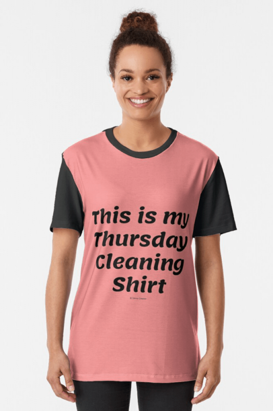 My Thursday Cleaning Shirt, Savvy Cleaner Funny Cleaning Shirts, Graphic shirt