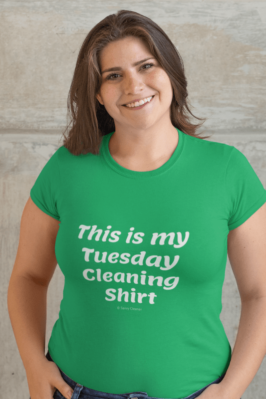 My Tuesday Cleaning Shirt, Savvy Cleaner Funny Cleaning Shirts, Women's Boyfriend T-Shirt