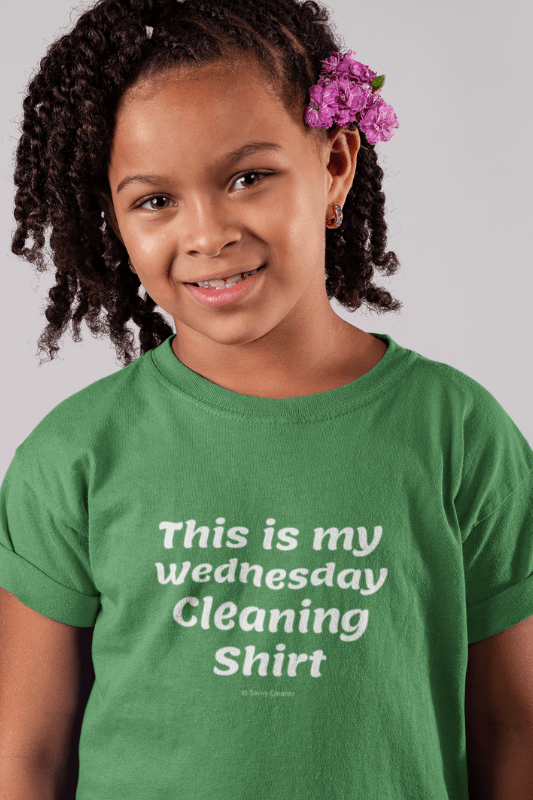 My Wednesday Cleaning Shirt, Savvy Cleaner Funny Cleaning Shirts, Kids Premium T-Shirt