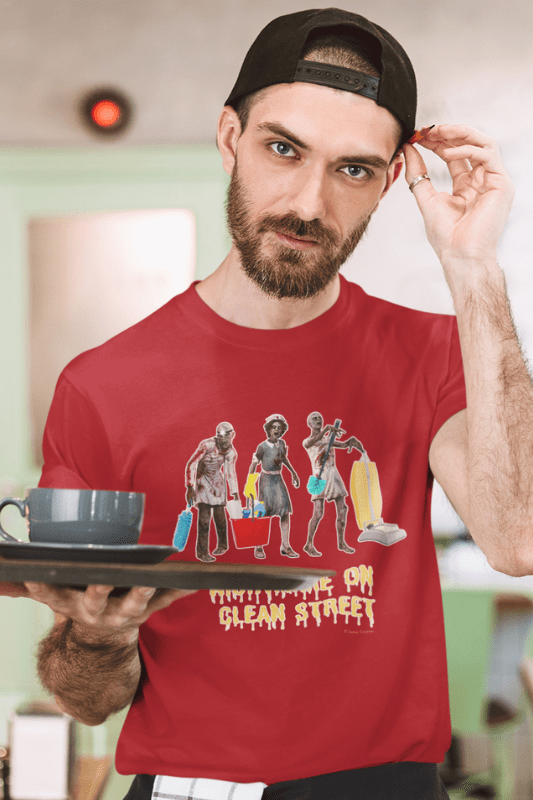 Nightmare on Clean Street, Savvy Cleaner Funny Cleaning Shirts, Classic T-Shirt