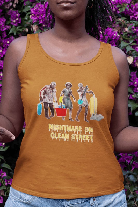 Nightmare on Clean Street, Savvy Cleaner Funny Cleaning Shirts, Classic Tank Top