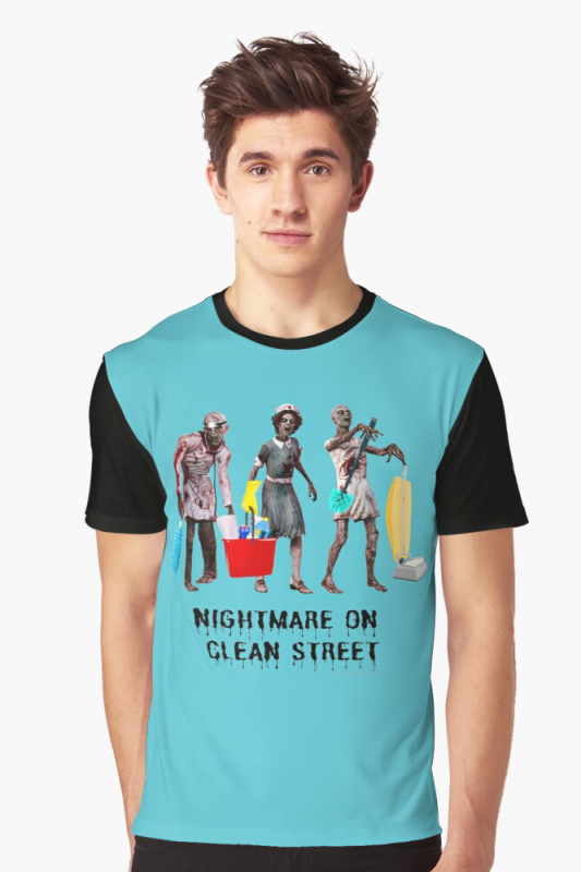 Nightmare on Clean Street, Savvy Cleaner Funny Cleaning Shirts, Graphic shirt