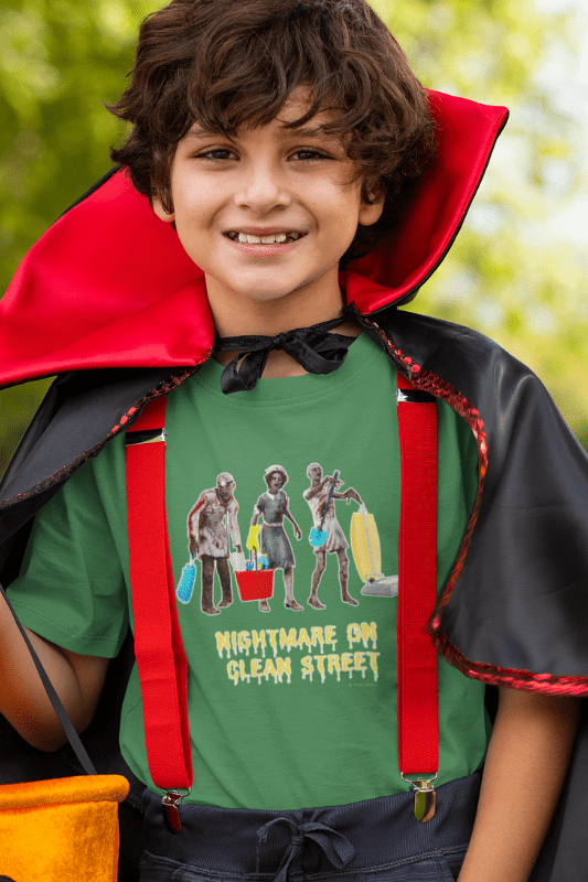 Nightmare on Clean Street, Savvy Cleaner Funny Cleaning Shirts, Kids Premium T-Shirt