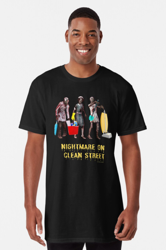 Nightmare on Clean Street, Savvy Cleaner Funny Cleaning Shirts, Long shirt