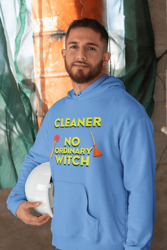 No Ordinary Witch, Savvy Cleaner Funny Cleaning Shirts, Classic Pullover Hoodie