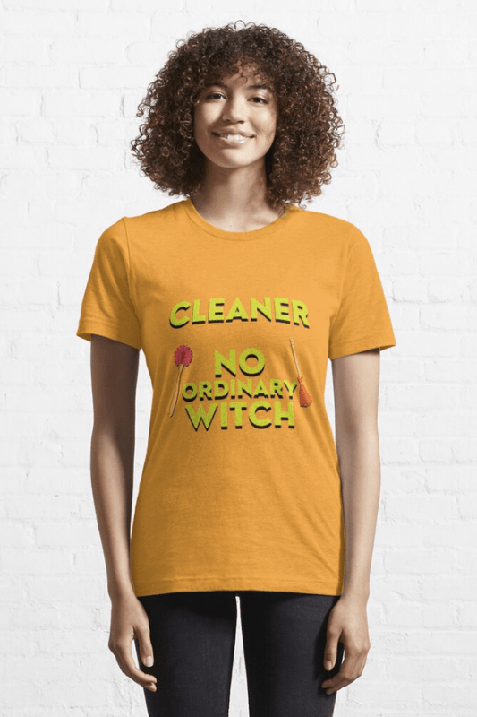 No Ordinary Witch Savvy Cleaner Funny Cleaning Shirts Classic Tee