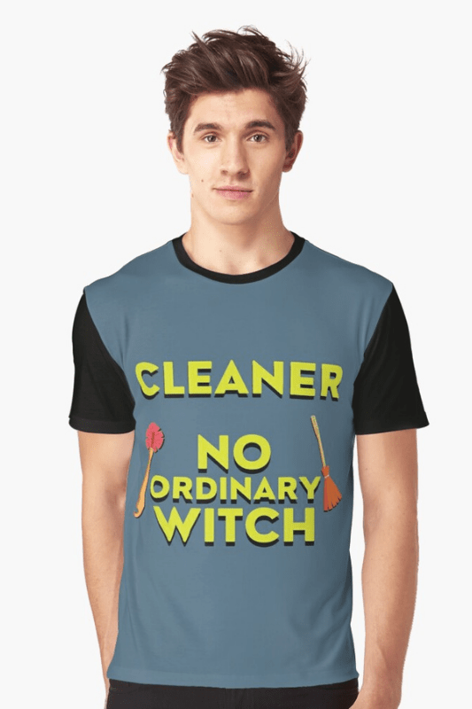 No Ordinary Witch Savvy Cleaner Funny Cleaning Shirts Graphic Tee