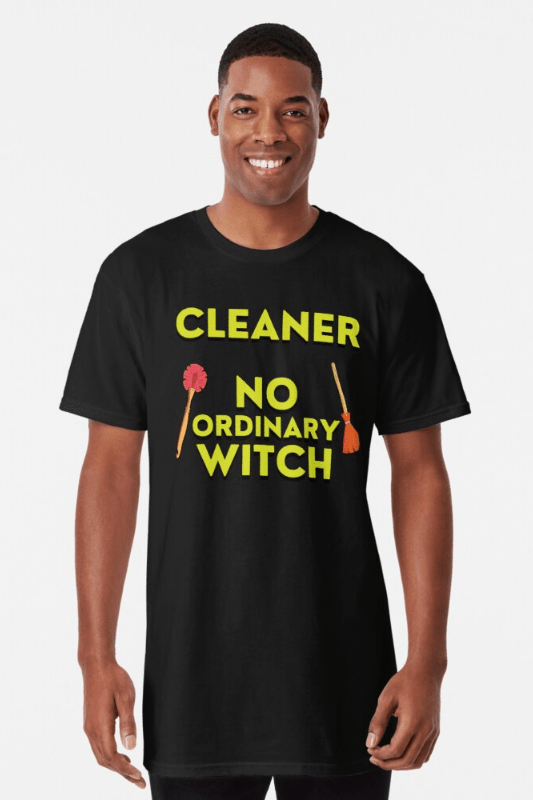 No Ordinary Witch Savvy Cleaner Funny Cleaning Shirts Long Tee