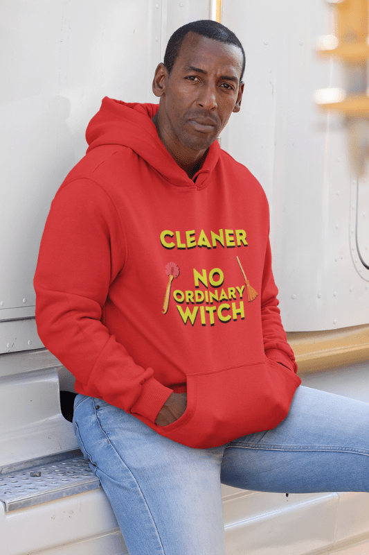 No Ordinary Witch, Savvy Cleaner Funny Cleaning Shirts, Premium Pullover Hoodie