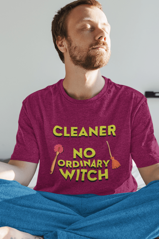No Ordinary Witch, Savvy Cleaner Funny Cleaning Shirts, Premium T-Shirt