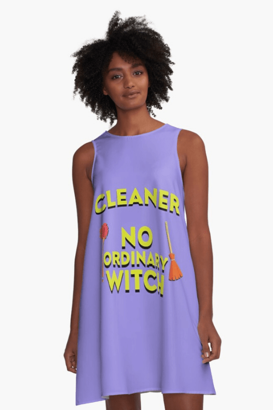 No Ordinary Witch Savvy Cleaner Funny Cleaning Shirts Sleeveless Dress