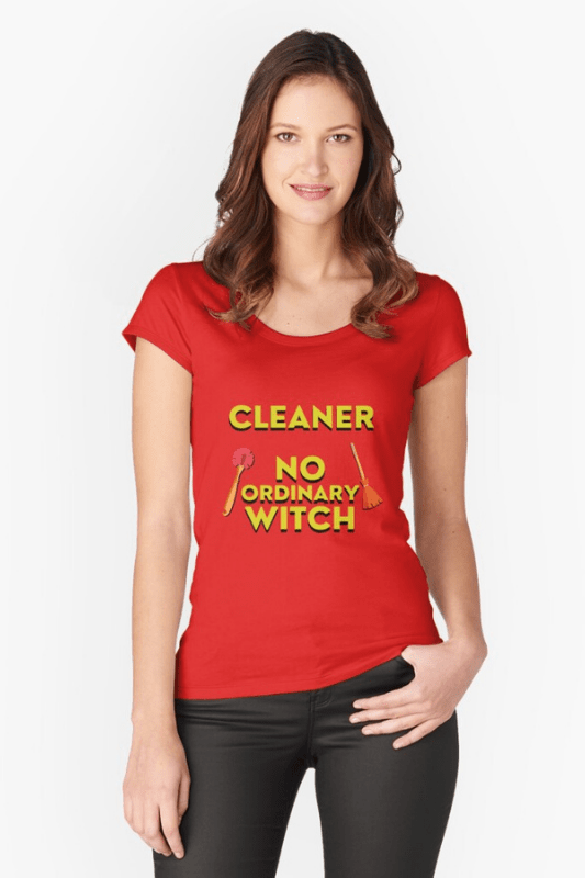 No Ordinary Witch Savvy Cleaner Funny Cleaning Shirts Slouch Tee