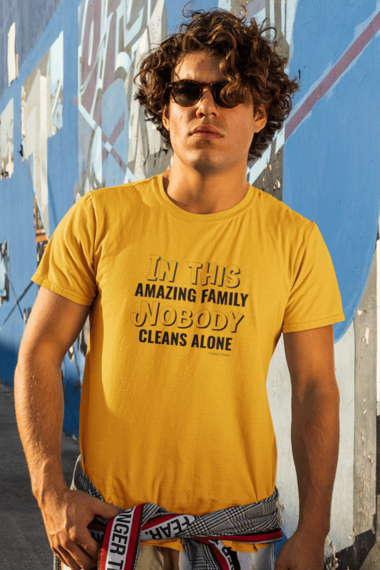 Nobody Cleans Alone Savvy Cleaner Funny Cleaning Shirts Premium Tee