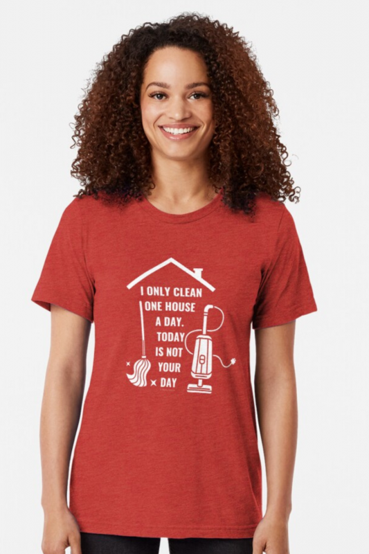 Not Your Day Savvy Cleaner Funny Cleaning Shirts Triblend Tee