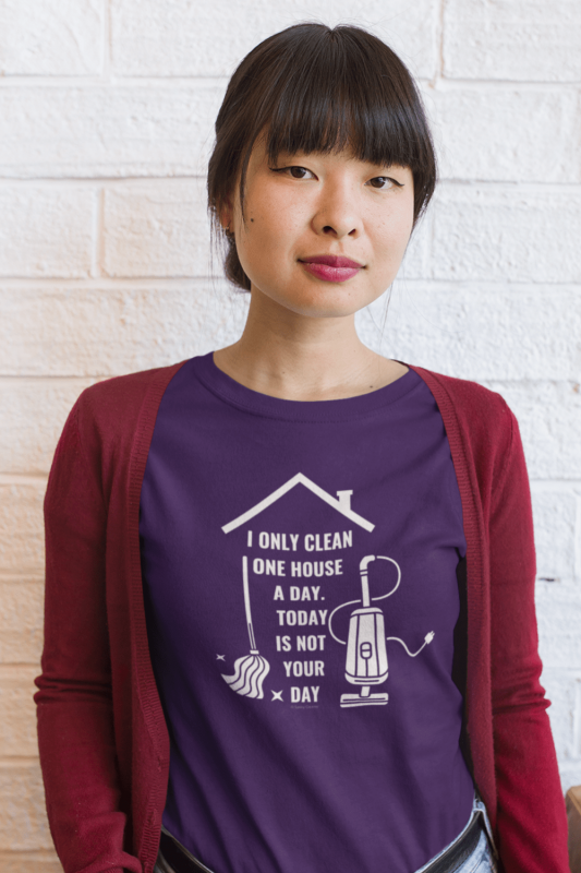 Not Your Day Savvy Cleaner Funny Cleaning Shirts Women's Standard Tee