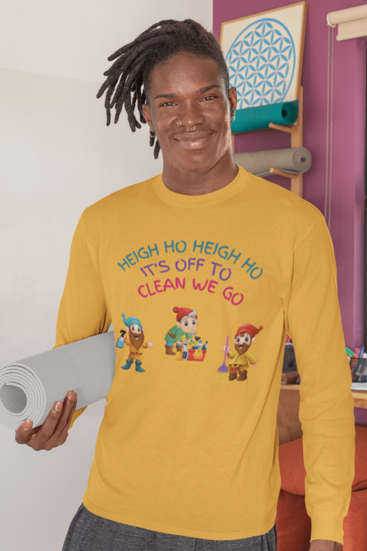 Off to Clean We Go Savvy Cleaner Funny Cleaning Shirts Classic Long Sleeve Tee