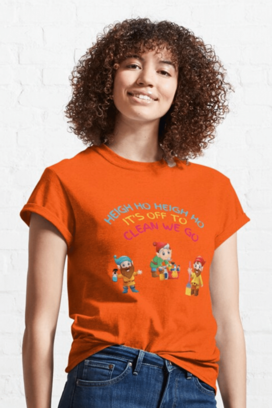 Off to Clean We Go Savvy Cleaner Funny Cleaning Shirts Classic T-Shirt