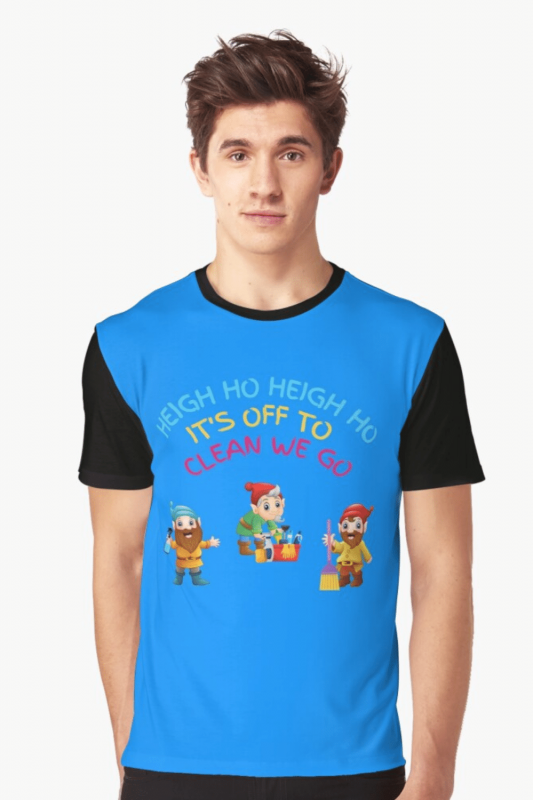 Off to Clean We Go Savvy Cleaner Funny Cleaning Shirts Graphic Tee