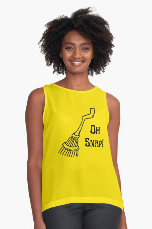 Oh Snap Savvy Cleaner Funny Cleaning Shirts Sleeveless Top